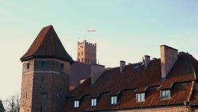 Los caballeros teutónicos medievales se escudan en Malbork almacen de metraje de vídeo
