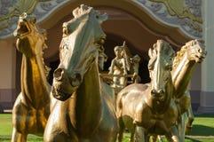 Los caballos de oro Fotos de archivo libres de regalías