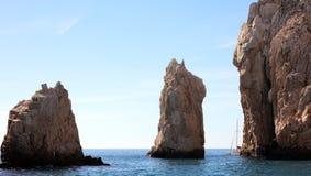 Los Cabos墨西哥曲拱El Arco cabo圣卢卡斯优秀视图 图库摄影