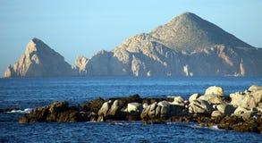 Los Cabos墨西哥Cabo圣卢卡斯海滩胜地 免版税图库摄影