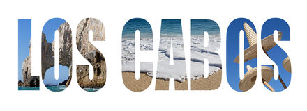Los Cabos. Landscape letters isolated on white Royalty Free Stock Photos