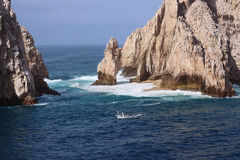 Los Cabos Mexico. Lovers Island in Los Cabos, Mexico. This island is popular for diving, fishing and serene beaches Stock Photography