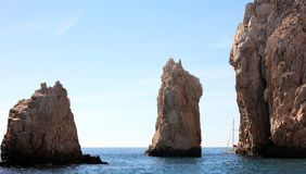 Los Cabos Mexico The Arch El Arco cabo san Lucas excellent view. Tourist point of interest stock photography