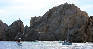 Los Cabos Mexico The Arch El Arco cabo san Lucas excellent view. Tourist point of interest Stock Photo