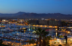Los Cabos, Mexico night view from above Stock Image
