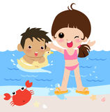 Los cabritos son vacaciones de verano Imagen de archivo libre de regalías