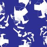 los cachorros texturizan, modelo, azul y blanco inconsútiles Imagenes de archivo
