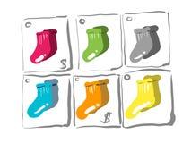 Los calcetines coloridos Fotografía de archivo libre de regalías