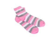 Los calcetines de los niños aislados en el fondo blanco Imagen de archivo libre de regalías