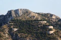 Los caminos twisty de la montaña, las curvas imagenes de archivo