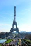 Los campeones estropean y la torre Eiffel, París, Francia Fotografía de archivo libre de regalías