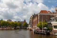 Los canales de Amsterdam Foto de archivo libre de regalías