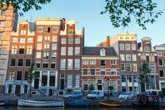 Los canales de Amsterdam Fotos de archivo libres de regalías
