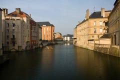Los canales de Metz, Francia fotos de archivo