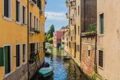 Los canales hermosos de Venecia Fotografía de archivo