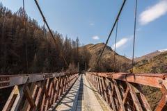 Los capitanes tienden un puente sobre en barranco de los capitanes Fotos de archivo