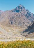 Los Caracoles in de Andes Stock Foto's