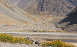 Los Caracoles in de Andes Stock Afbeelding