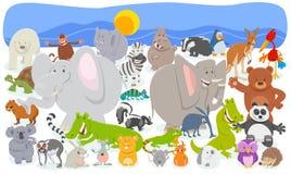 Los caracteres animales de la historieta aprietan el fondo libre illustration