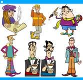 Los caracteres de los hombres fijaron el ejemplo de la historieta Foto de archivo