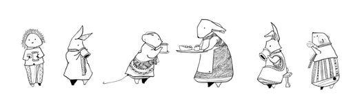 Los caracteres del tesoro de Foxwood imágenes de archivo libres de regalías