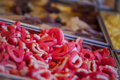 Los caramelos y las jaleas coloridos se cierran para arriba Imagen de archivo