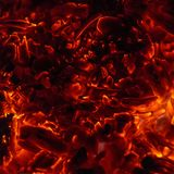 Los carbones calientes del infierno Imagen de archivo libre de regalías