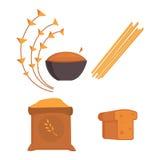 Los carburadores de la comida aislaron el ejemplo sano del vector del superfood de la salud de la nutrición del grupo del carbohi stock de ilustración