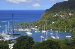 Los Caribs La isla de la Santa Lucía Fotografía de archivo