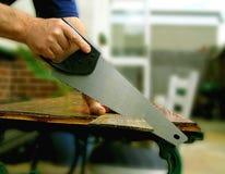 Los carpinteros vieron Imagen de archivo libre de regalías