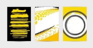 Los carteles del neumático del Grunge fijaron 17-17 Foto de archivo libre de regalías