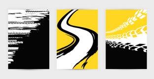 Los carteles del neumático del Grunge fijaron 17-21 Imagen de archivo