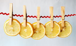 Los cascos del limón Imágenes de archivo libres de regalías