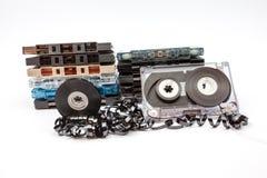 Los casetes de música foto de archivo libre de regalías