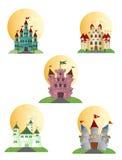 Los castillos Vector para su diseño Fotos de archivo