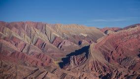 Los catorce Mountain View de los colores fotografía de archivo