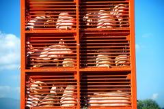 Los cerdos y los hos aumentaron para la comida que era transportada a un carnicero hous Imágenes de archivo libres de regalías