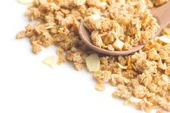 Los cereales de desayuno del granola Fotografía de archivo libre de regalías