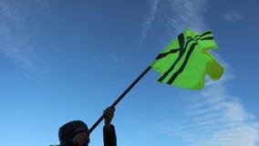Los chalecos amarillos protestan contra m?s alto almacen de metraje de vídeo
