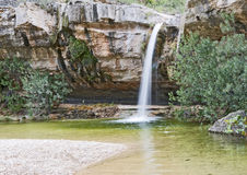 Los Charcos Waterfall Spain. Los Charcos Waterfall near Ontinyent ,Valencia ,Spain Royalty Free Stock Image