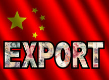 Los chinos exportan con efectivo y el indicador Imagen de archivo libre de regalías
