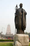 Los chinos jianzhen la escultura del monje imagen de archivo