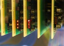 Los chips de ordenador viejos y del vintage de los transistores foto de archivo libre de regalías