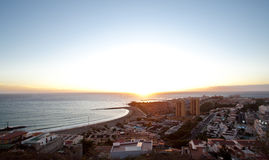 Los Christianos. The town of Los Christianos in Tenerife Stock Image