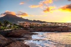 Los Christianos coastline Royalty Free Stock Photography