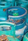 Los cilindros de gas de cocinar Imágenes de archivo libres de regalías