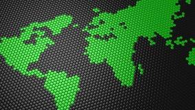 Los cilindros formaron un mapa del mundo almacen de metraje de vídeo