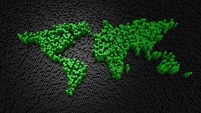Los cilindros formaron un mapa del mundo metrajes