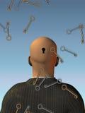 Los claves bajan - mente abierta Fotos de archivo libres de regalías