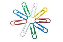 Los clips coloreados imagenes de archivo